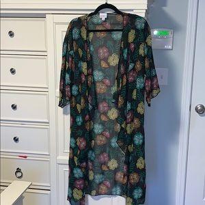 Lularoe 3/4 sleeve sheer kimono